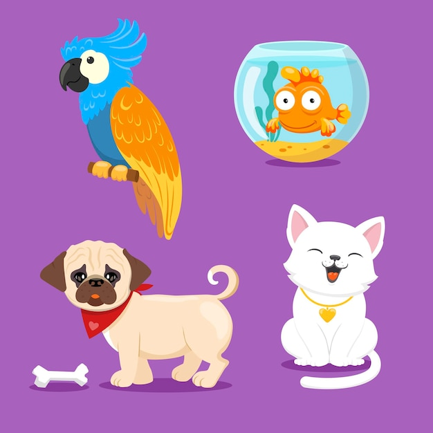 Different pets concept Free Vector