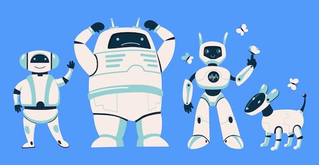 別のロボットセット 無料ベクター