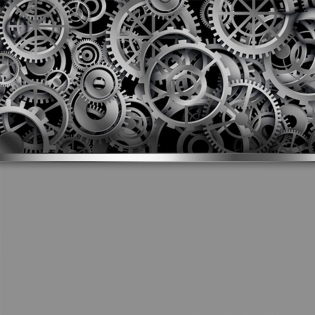 Different shapes gears with text space Free Vector