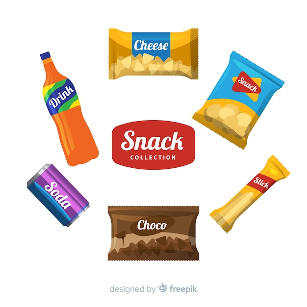 Different snack set Free Vector