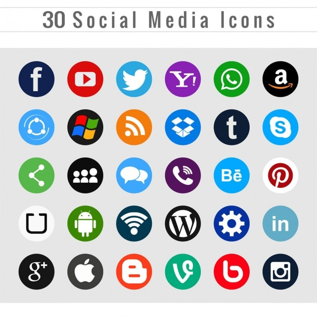 Different social media icons Vector | Free Download