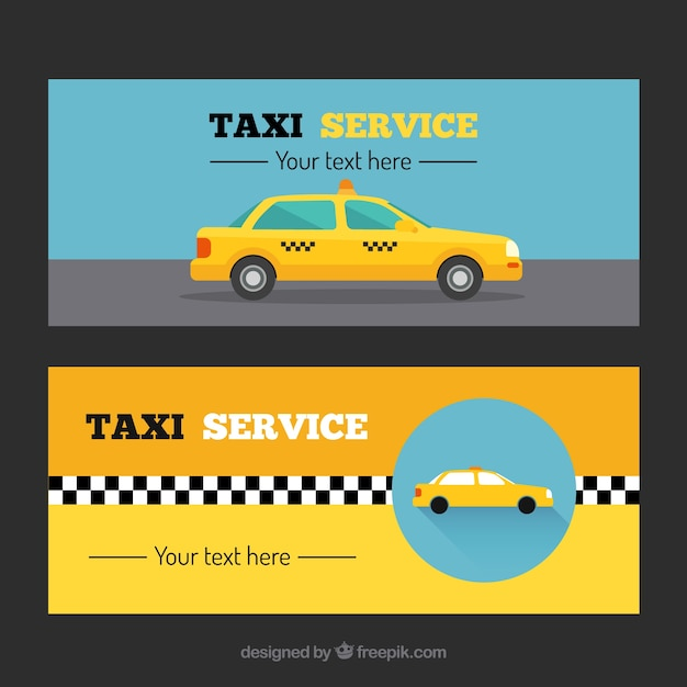 Different taxi banners