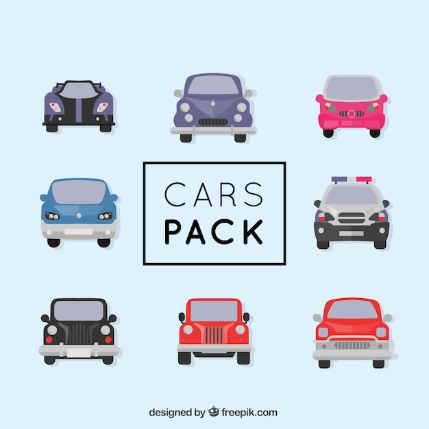 Different types of cars Free Vector