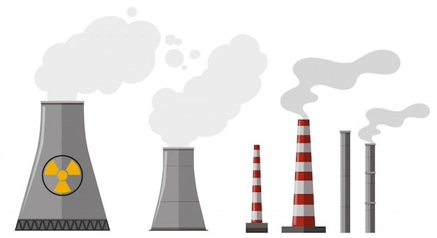 Different types of chimney Free Vector