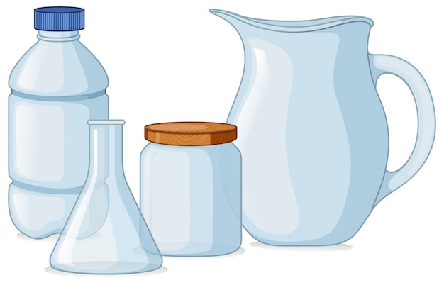 Different types of containers Free Vector