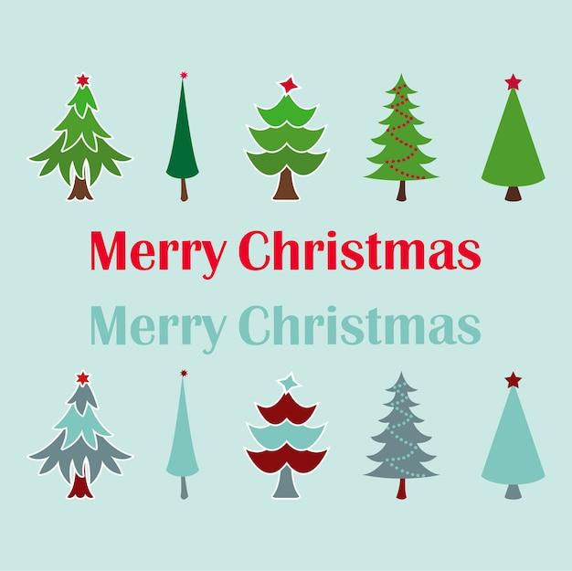 different types of christmas trees premium vector - Different Kinds Of Christmas Trees