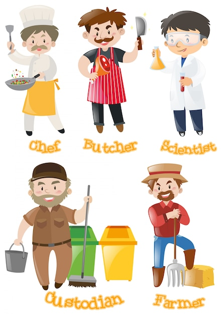 different types of occupations vector free download janitorial clipart free janitor clipart black and white