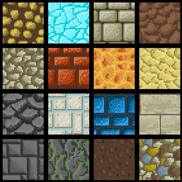 Different Wall Textures Vector Free Download