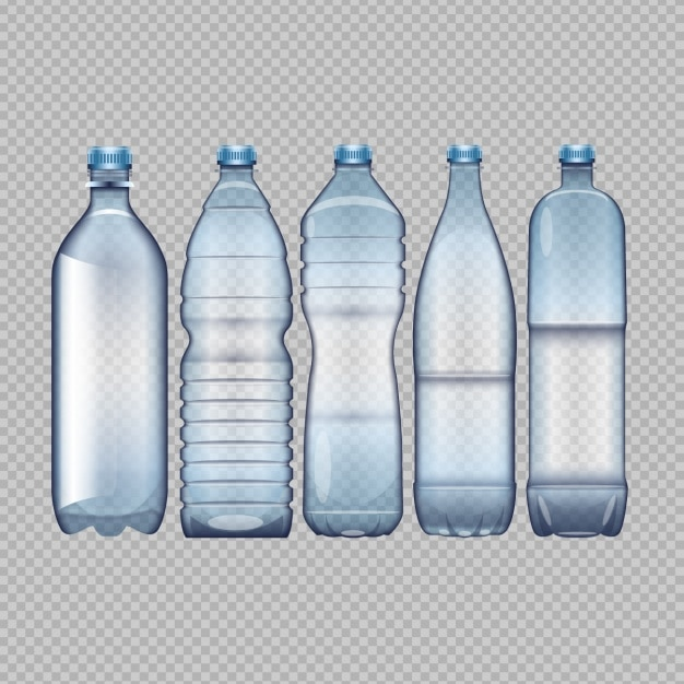 Different water bottles Free Vector