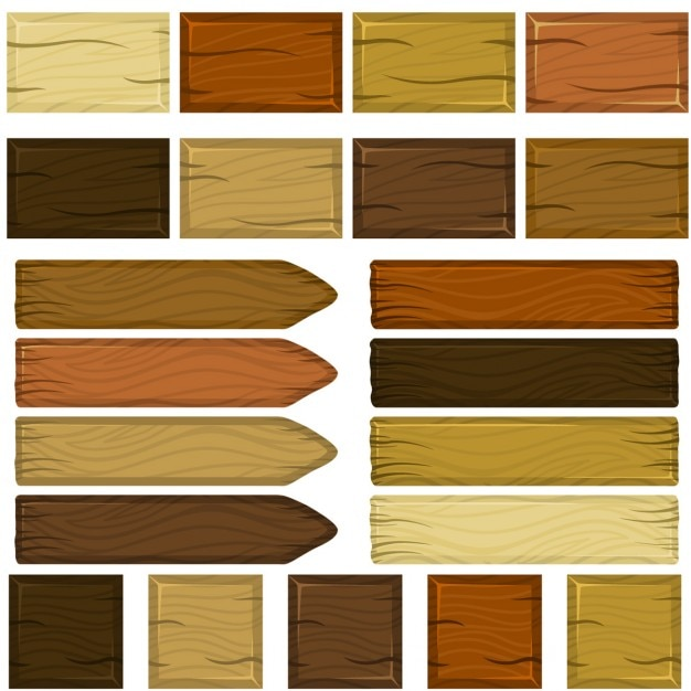 Different wood signs Free Vector