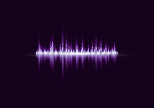 Digital abstract equalizer, sound wave. Premium Vector