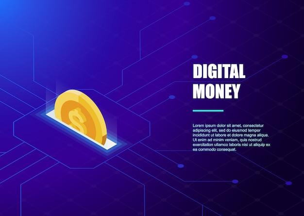 Digital banking online template Premium Vector