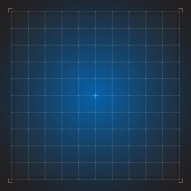 Digital blue grid Premium Vector