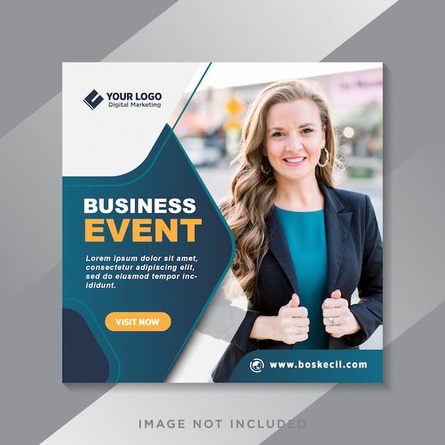 デジタルビジネスイベントのソーシャルメディアの投稿とwebバナー Premiumベクター