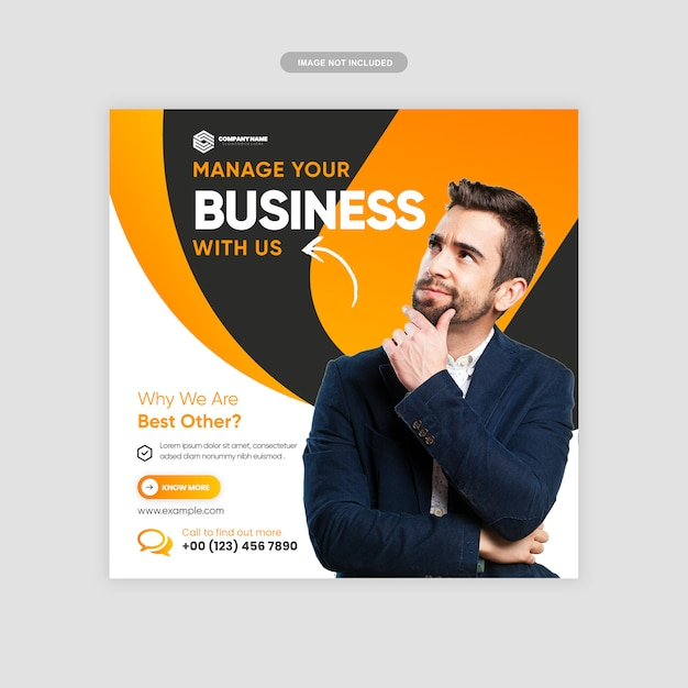 Digital business marketing instagram post premium Premium Vector