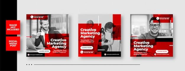 Digital business marketing social media post banner & square flyer Premium Vector
