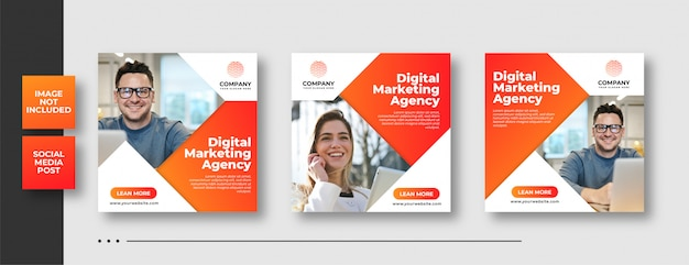 Digital business marketing social media post & web banner Premium Vector