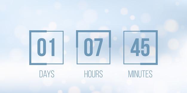Digital clock timer, countdown Premium Vector
