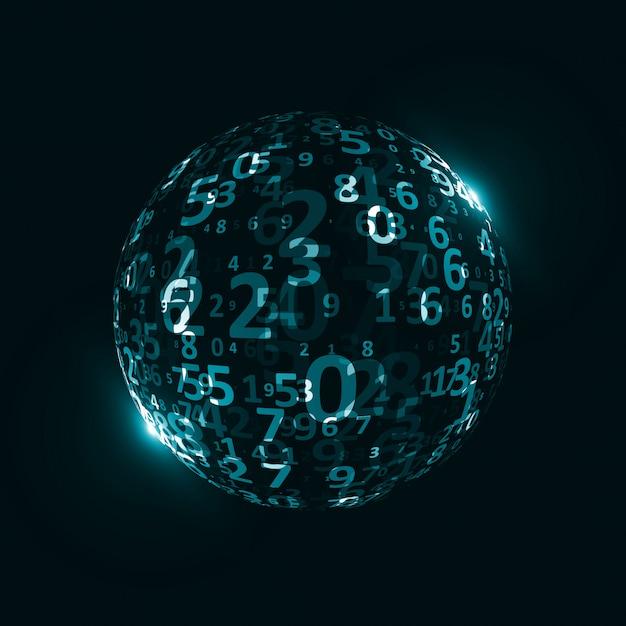 Digital code background Premium Vector