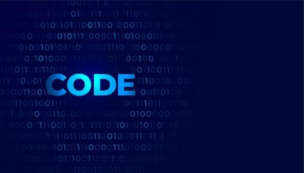 Фон цифрового кодирования с числами ноль и один Бесплатные векторы