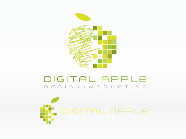 Digital colorful apple logo vector vector free download Free vector program mac