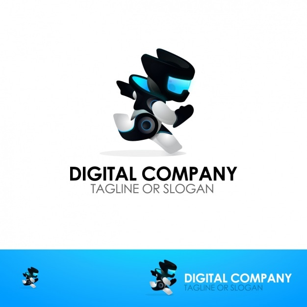 digital company logo template vector free download