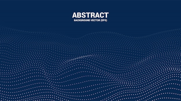 Digital contour curve dot and line ripple and wave with wireframe . abstract background for  futuristic technology concept Premium Vector