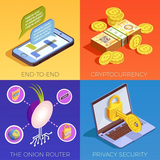 Цифровая валюта Бесплатные векторы