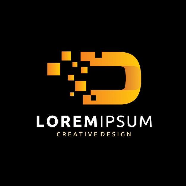 Digital D Logo Vector