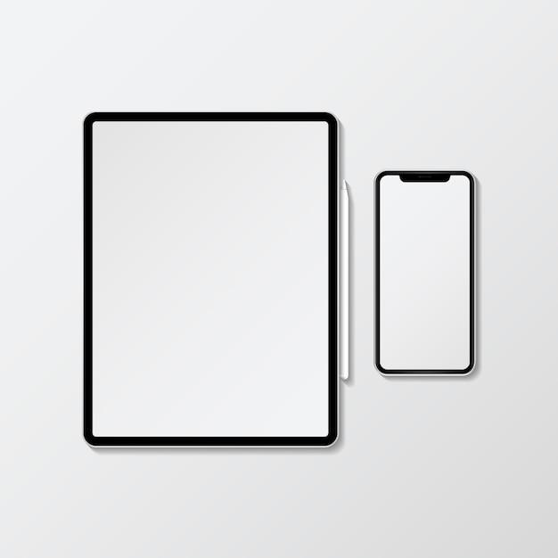 Digital device mockup Free Vector