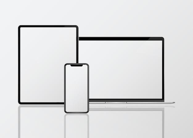 Макет цифрового устройства Бесплатные векторы