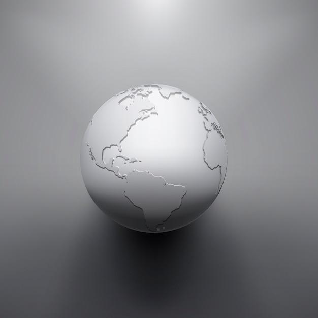 Цифровое изображение земли земного шара. концептуальная иллюстрация Premium векторы