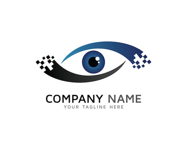 digital eye logo design vector premium download