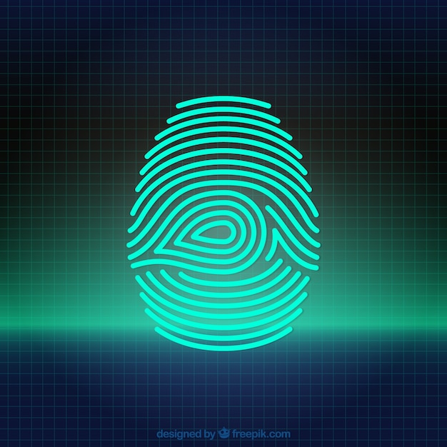 Digital fingerprint Vector | Free Download