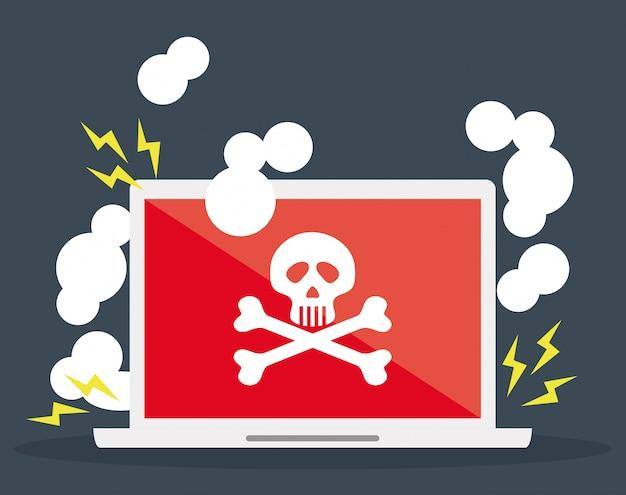 Digital fraud and hacking design Vector | Premium Download