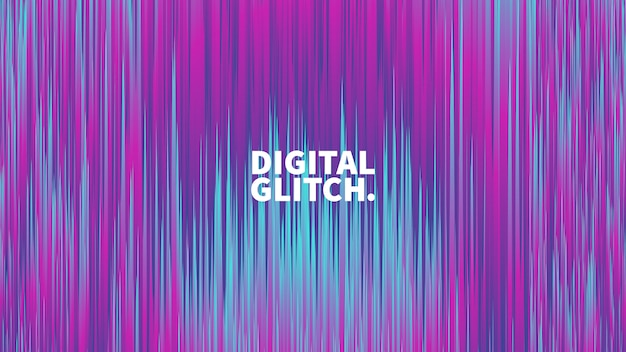 Digital glitch effect vector abstract background Premium Vector