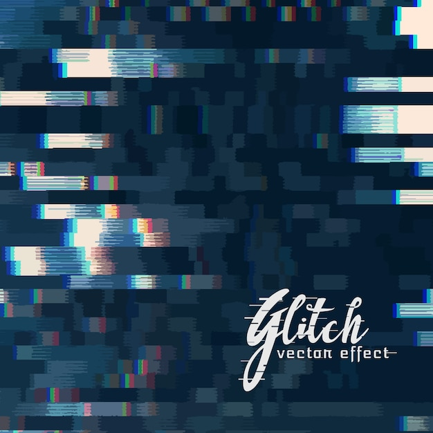 Digital glitch vector abstract background Free Vector