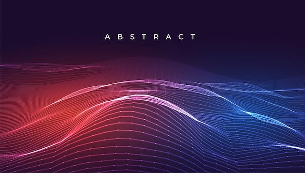Digital glowing abstract wavy lines background design Free Vector