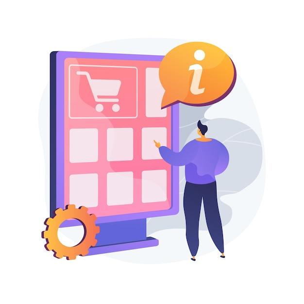 Illustrazione di vettore di concetto astratto guida digitale. app guida mobile, tour interattivo, manuale utente, assistenza clienti, libro del marchio, risoluzione dei problemi, metafora astratta di distribuzione delle informazioni. Vettore gratuito
