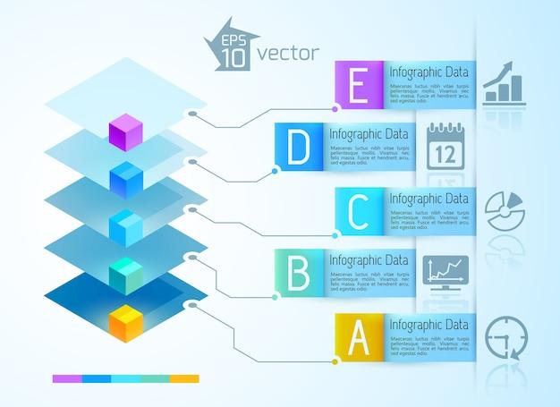Concetto di infografica digitale Vettore gratuito