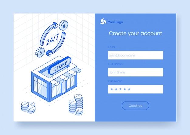 Digital isometric design concept set of financial foreign exchange app 3d icons Premium Vector
