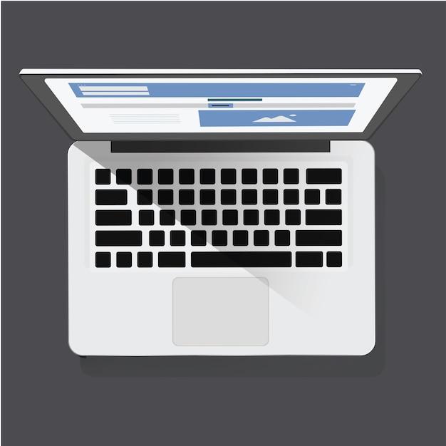 Digital laptop icon vector illustration Free Vector