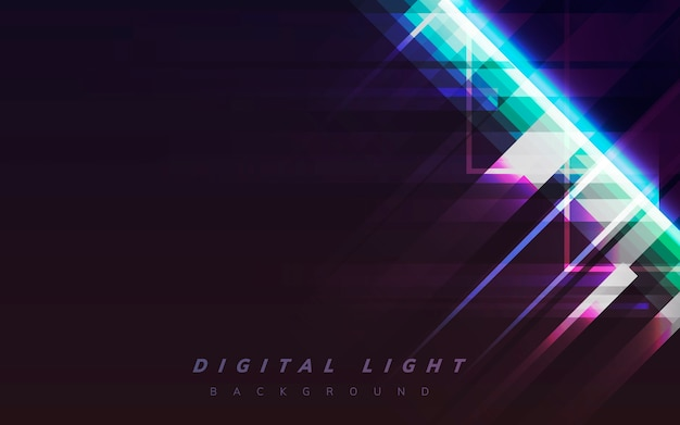Digital light background Free Vector