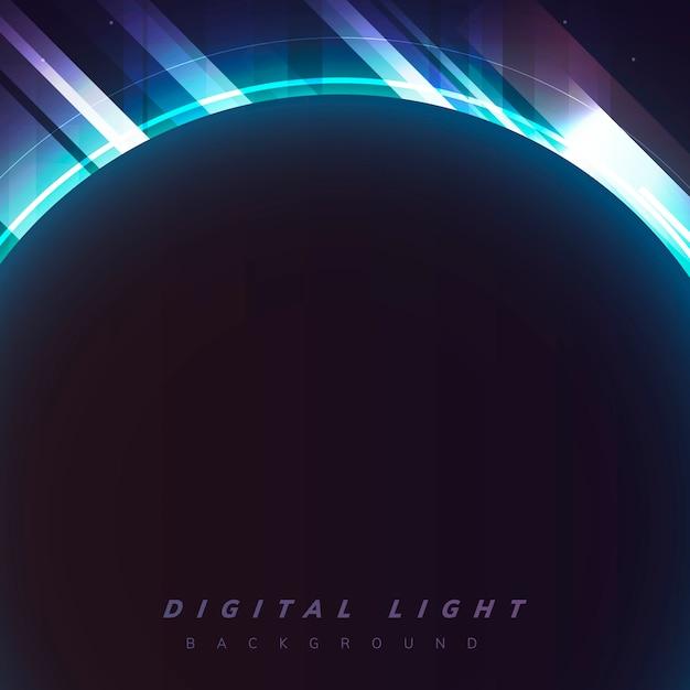 Цифровой светлый фон Бесплатные векторы