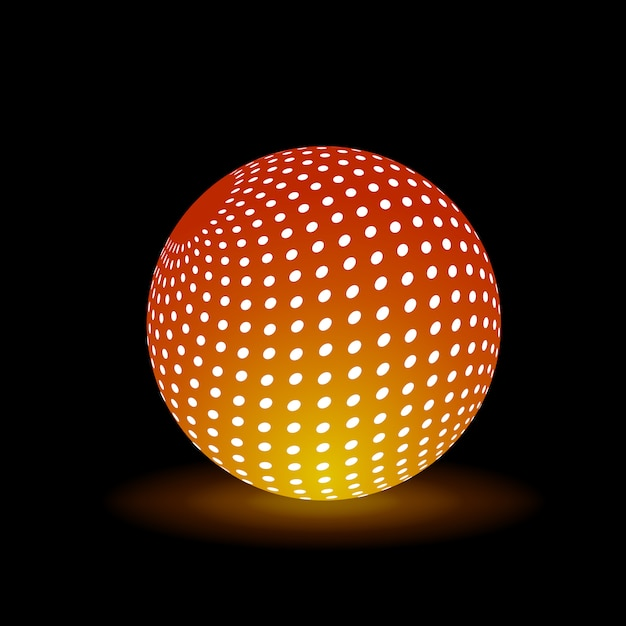 Digital light ball Premium Vector