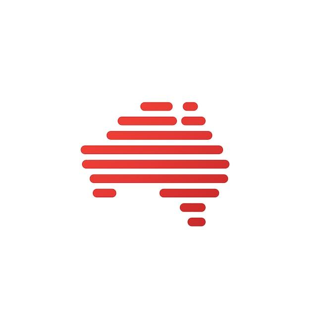 Map Of Australia Logo.Digital Line Australia Map Logo Vector Premium Download