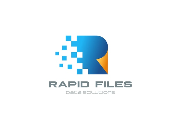 Цифровой логотип Бесплатные векторы