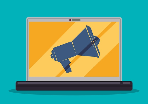Digital marketing and advertising Premium Vector