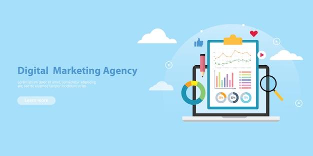 Digital marketing agency banner website template Vector ...