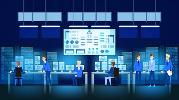 Digital marketing and data analytics Premium Vector